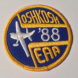 "Original EAA Oshkosh 1988 Patch.  Never used 3"" Cloth."