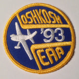 "Original EAA Oshkosh 1993 Patch.  Never used 3"" Cloth."