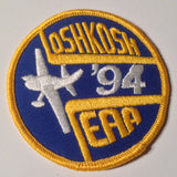 "Original EAA Oshkosh 1994 Patch.  Never used 3"" Cloth."
