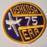 "Original EAA Oshkosh 1975 Patch.  Never used 3"" Cloth."