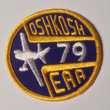 "Original EAA Oshkosh 1979 Patch.  Never used 3"" Cloth."