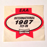 "Original EAA Oshkosh 1987 Decal.  Never used 2.75"" Plastic Champion Spark Plug issue."