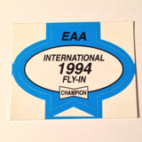 "Original EAA Oshkosh 1994 Decal.  Never used 2.75"" Plastic Champion Spark Plug issue."