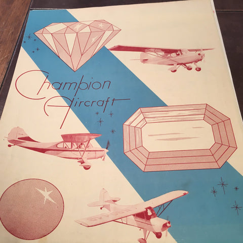 "Original Champion Aircraft 4 page Sales Brochure, 8.5x11""."