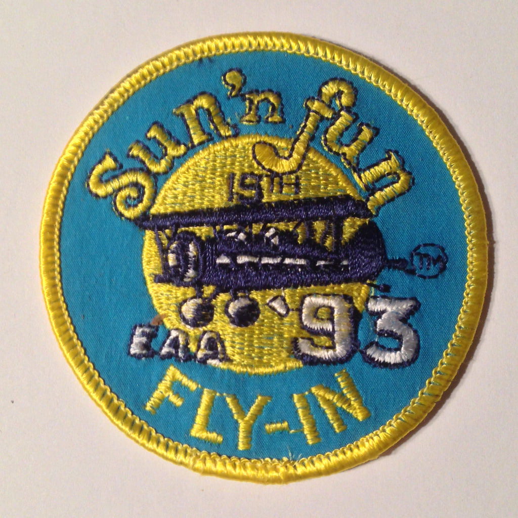 "Original EAA Sun' N Fun 1993 Patch.  Never used 3"" Cloth."
