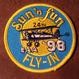 "Original EAA Sun' N Fun 1998 Patch.  Never used 3"" Cloth"