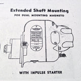 "Eisemann Model ""AM"" Magnetos as used on Franklin 4 & 6 Cylinder Engines Service Booklet.  Circa 1942."