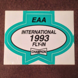 "Original EAA Oshkosh 1993 Decal.  Never used 2.75"" Plastic Champion Spark Plug issue."