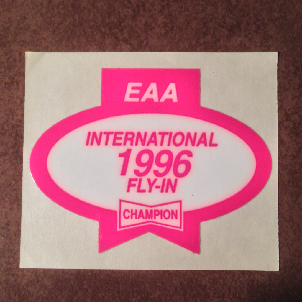 "Original EAA Oshkosh 1996 Decal.  Never used 2.75"" Plastic Champion Spark Plug issue."