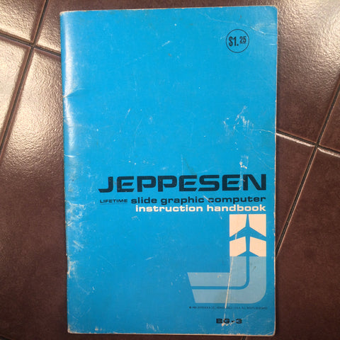 1969 Jeppesen BG-3 Slide Graphic Computer Handbook Manual. CSG.