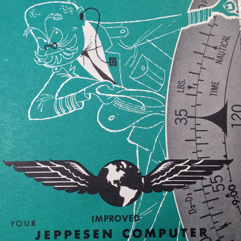 1960 Jeppesen CR Computer Handbook Manual.