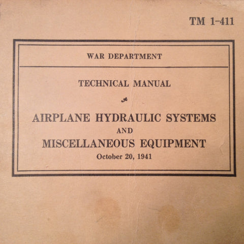 1941 Airplane Hydraulic Systems Technical Manual.