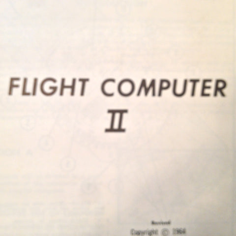 1964 Sanderson Flight Computer II Computer Handbook Manual.
