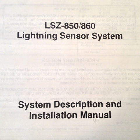 Honeywell LSZ-850 and LSZ-860 Install Manual.
