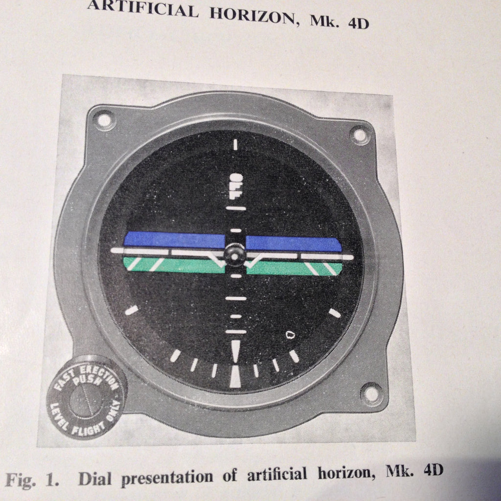 Artificial Horizon Gyro Mk. 4, Mk. 4A, Mk. 4B, Mk. 4C, Mk. 4D & Mk.4E Technical Manual.  Circa 1969. 1970.