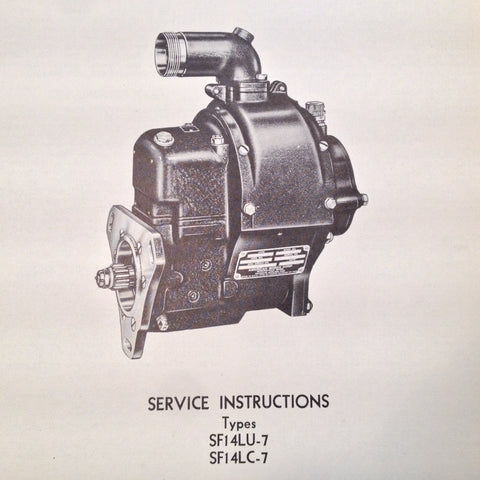 American Bosch Magneto SF14LU-7 and SF14LC-7 Service Instructions Booklet.  Circa 1942.