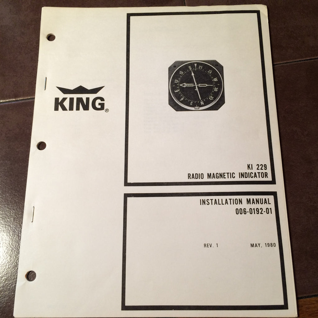 King KI-229 RMI Install Manual.