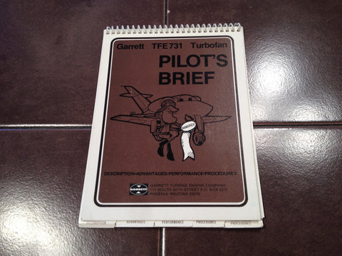 Garrett TFE731 Turbofan Engine Pilot's Brief.