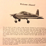 American Aviation Trainer AA-1A Owner's Manual.  Circa 1971.