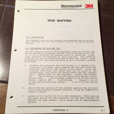 "3M ""Skin Mapping"" & Antenna Locations Instruction Manual."