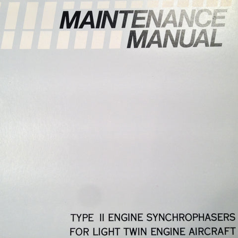Woodward Type II Synchrophasers in Twins Service Manual.