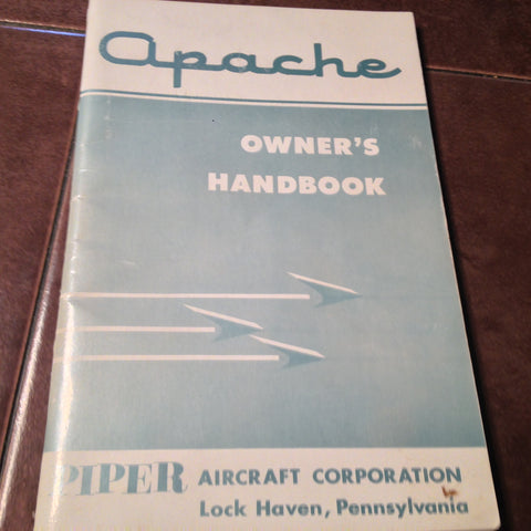 1962 Piper Apache PA-23-235 Owner's Handbook.