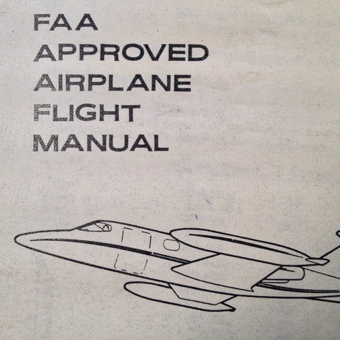 Original LearJet 24 Airplane Flight Manual.