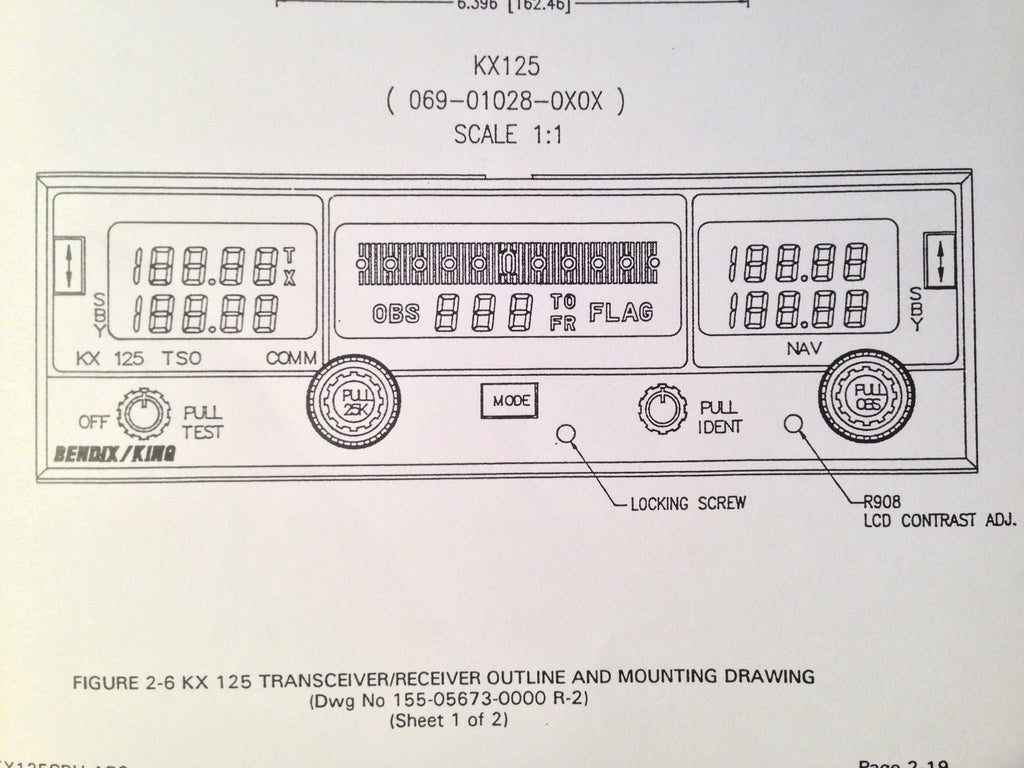 King KX-125 Install and Operation Manual.  Circa 1994.