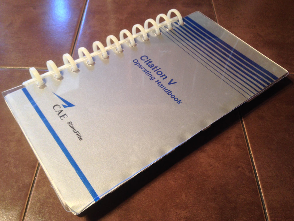 CAE SimuFlite Cessna Citation V Operating Handbook. Circa 1999-2000