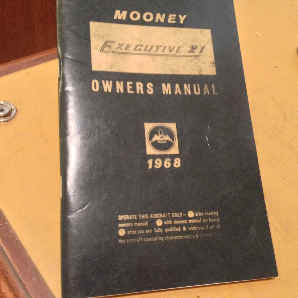 1968 Mooney M20F Executive 21 Owner's Manual.