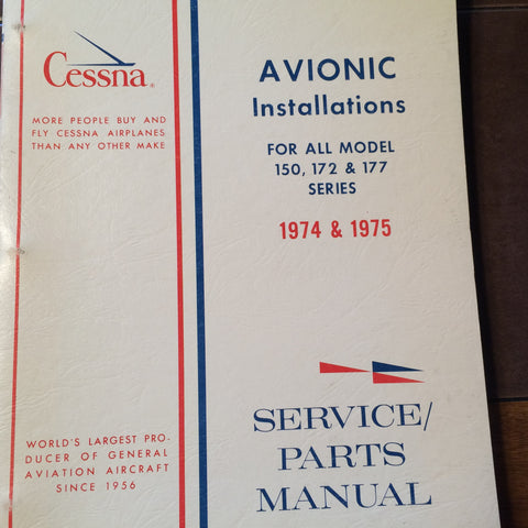 Factory Wiring Book 1974-1975 Cessna 150, 172, & 177 Manual.
