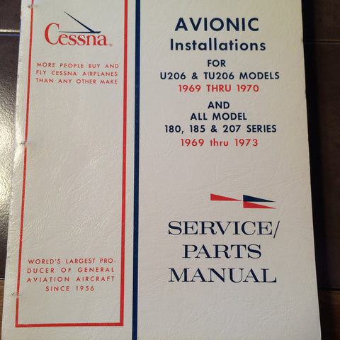 Cessna Factory Wiring Book 1969-1970 U206 & TU206 and 1969-1973 C180, 185, 207.
