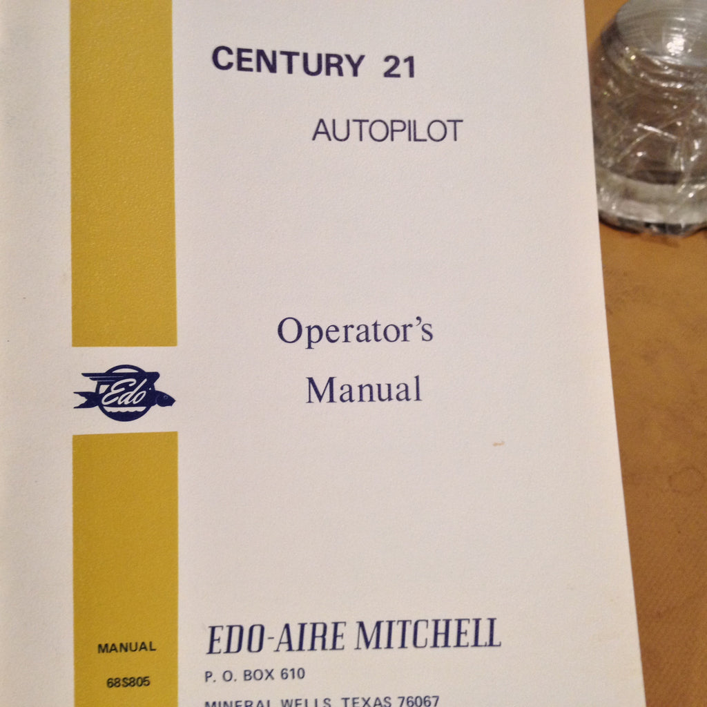 Edo-Aire Mitchell Century 21 Autopilot Pilot's Operation Manual.  Circa 1979, Revised 1980.