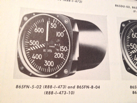 1950 Kollsman Airspeed Indicators F-4, F-5 & L-4 Service Manual.