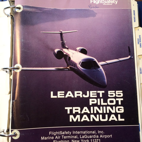 FlightSafety LearJet 55 Pilot Training Manual. Circa 1989, 1991.