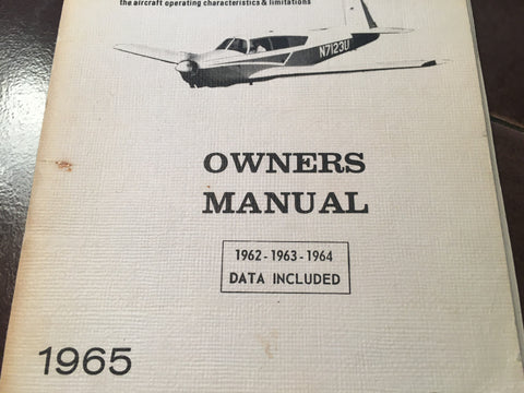 1962-1965 Mooney Mark 21, 20C Owner's Manual.