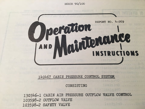 AiResearch Cabin Pressure Control 140467 Service Manual.