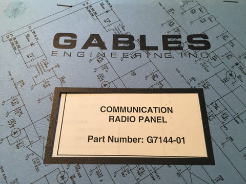 Gables G7144-01 Com Radio Panel Service Parts Manual.