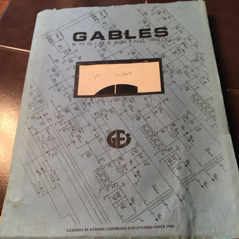 Gables VC Switches & Control Head Series Install manual.