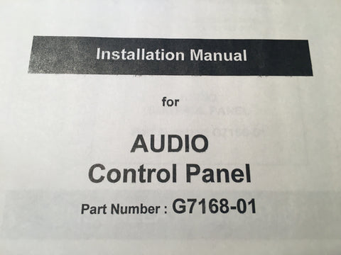 Gables G7168-01 Audio Control Install Manual