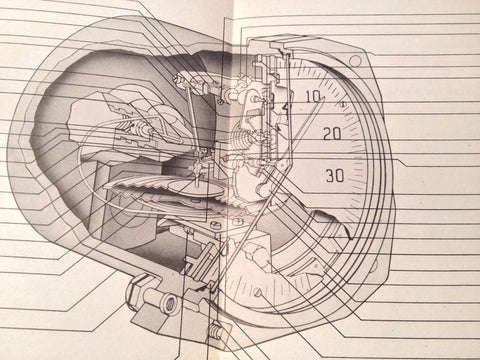 1943 Bendix Pioneer Sensitive Airspeed Indicator 1432-A1 Overhaul Manual.