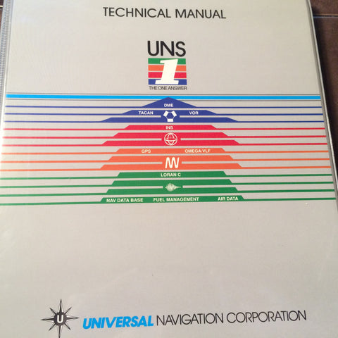 Universal UNS-1M NMS Navigation Management System Install & Technical Manual.  Circa 1991.