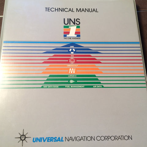Universal UNS-1A Compact FMS Flight Management System Install & Technical Manual.  Circa 1991.