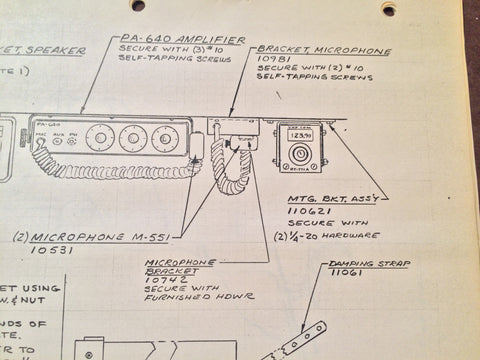 RT-771A and PA-640 Amplifier Install Manual. Circa 1969, 1971. – on
