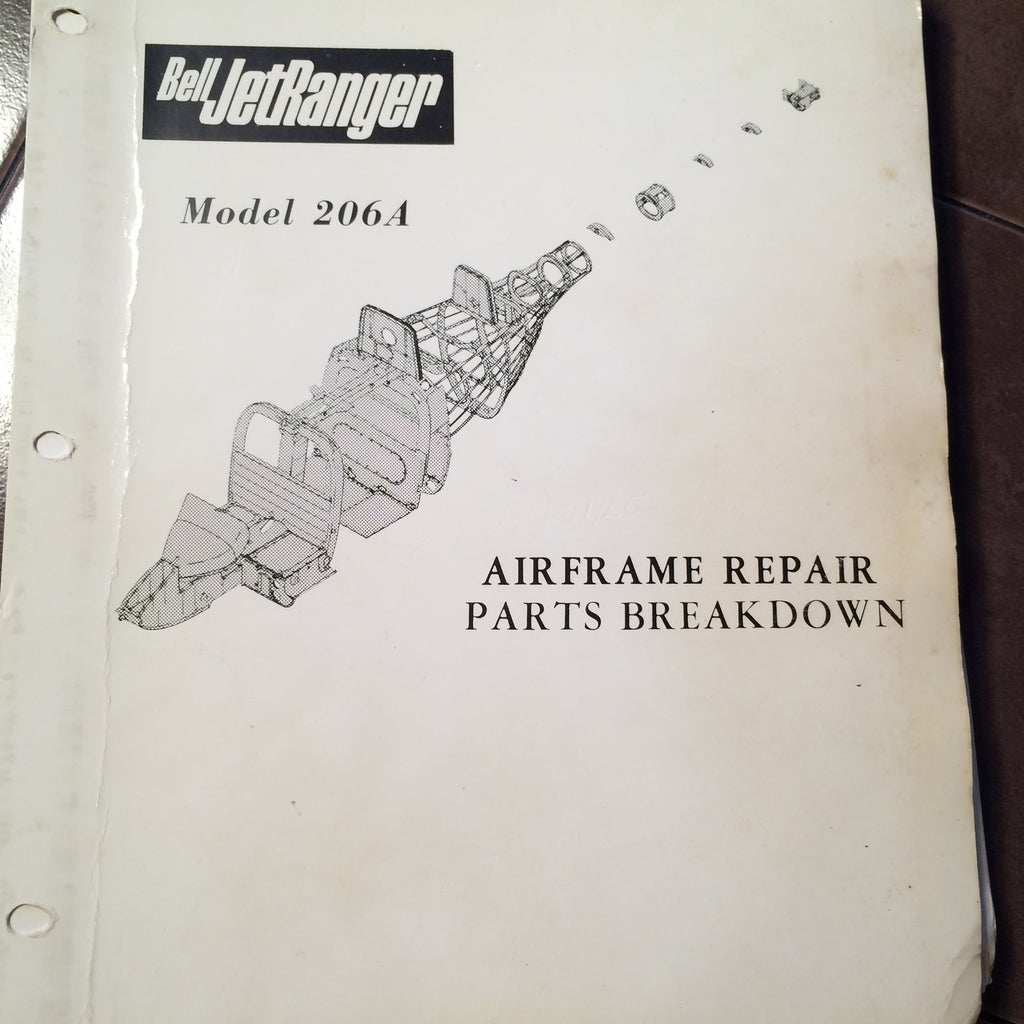 Bell Jetranger 206a Airframe Repair Parts Breakdown Manual Circa Helicopter Diagram