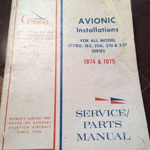 Cessna Factory Wiring Book 1974 -1975 C-177RG, 182, 206, 210 & 337.