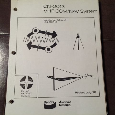 Bendix BX 2000 CN 2013 system install and operation manual.