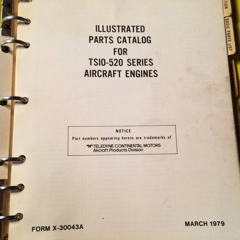 continental tsio 520 engines parts manual g s plane stuff rh gsplanestuff com tsio-520 parts catalog tcm io-520 parts manual