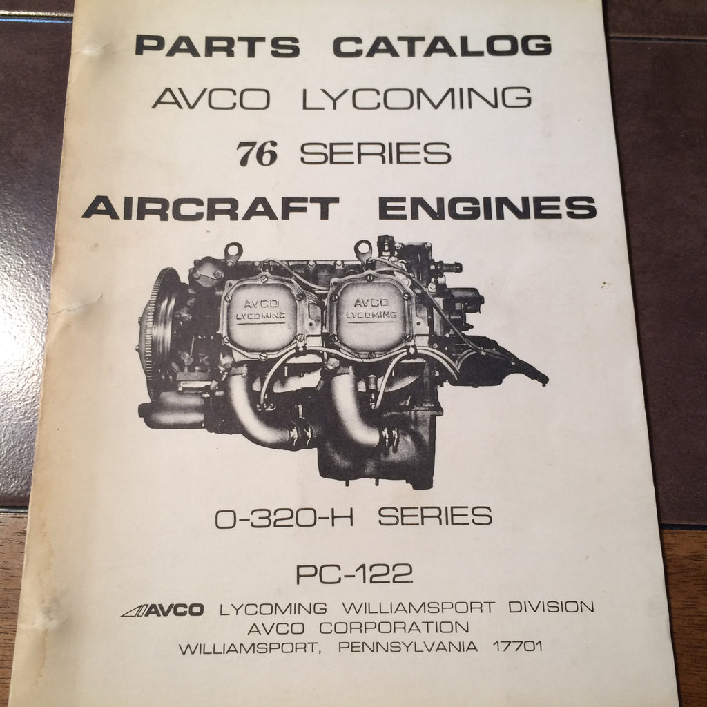 lycoming o 320 h 76 series engine parts manual g s plane stuff rh  gsplanestuff com lycoming 0-320-h2ad parts manual lycoming 0-320-e2d parts  manual