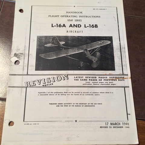 L-16A and L-16B Flight Handbook aka Aeronca Champion.